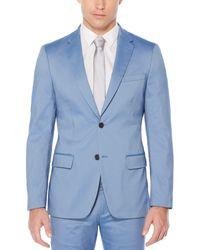 Perry Ellis Very Slim Fit Iridescent Twill Suit Jacket - Blue