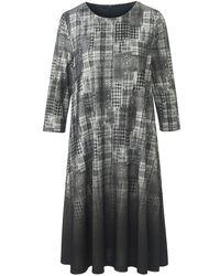 Peter Hahn Jersey-kleid 3/4-arm - Grau