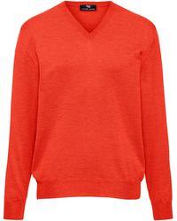 Peter Hahn V-pullover aus 100% schurwolle-merino extrafein - Orange