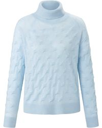 Peter Hahn Cashmere Rollkragen-pullover - Blau