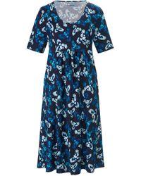 Green Cotton Jersey-kleid 1/2-arm - Blau