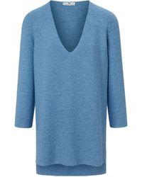 Peter Hahn Long-pullover v-ausschnitt - Blau