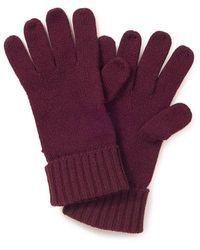 Peter Hahn Cashmere Handschuh aus 100% premium kaschmir - Lila