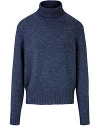 Peter Hahn Rollkragen-Pullover aus 100% Premium-Kaschmir blau