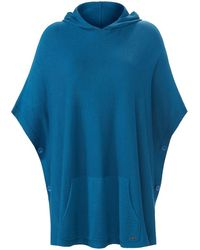 Emilia Lay Poncho-pullover - Blau