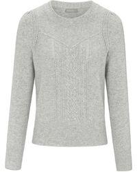 include Pullover aus 100% PREMIUM Kaschmir grau