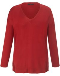 Emilia Lay V-pullover - Rot