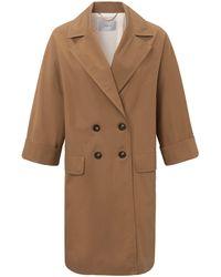 Marella Le manteau 100% coton taille 38 - Marron