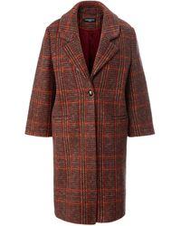 Fadenmeister Berlin Le manteau à col tailleur taille 38 - Marron