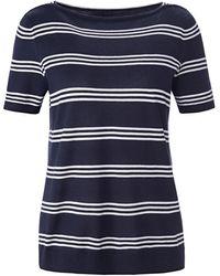 Fadenmeister Berlin Shirt-pullover u-boot-ausschnitt - Blau
