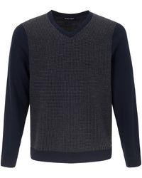 Louis Sayn V-Pullover blau