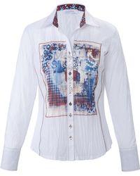 just white Le chemisier tissu froissé taille 46 - Bleu