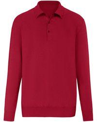 Peter Hahn Cashmere Polo-pullover aus 100% premium-kaschmir - Rot