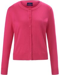 GANT Le cardigan manches longues taille 48 - Rose