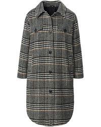 Emilia Lay Le manteau à carreaux taille 42 - Gris