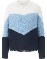 Peter Hahn Rundhals-pullover - Blau