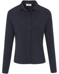 Peter Hahn Jersey-bluse - Blau