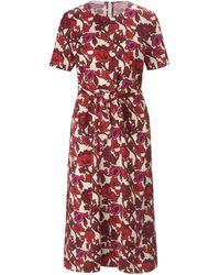 St. Emile La robe avec zip au dos taille 38 - Rouge