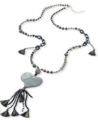Emilia Lay Le collier avec éléments verre et plastique - Noir