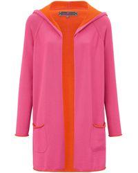 LIEBLINGSSTÜCK Long-Strickjacke mehrfarbig - Pink