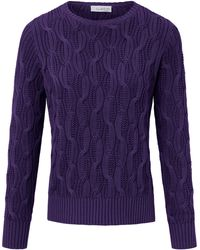 Looxent Pullover aus 100% Supima®-Baumwolle lila