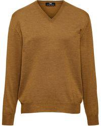 Peter Hahn V-pullover aus 100% schurwolle-merino extrafein - Natur