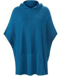 Emilia Lay Le poncho long taille 001 - Bleu