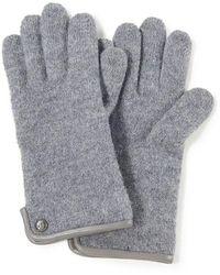 Roeckl Sports Handschuh aus gewalkter schurwolle - Grau