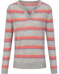 include Rundhals-pullover aus 100% premium-kaschmir - Mehrfarbig
