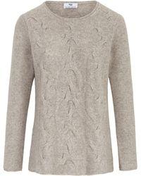 Peter Hahn Rundhals-pullover aus 100% schurwolle - Grau