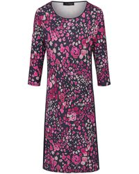 Looxent Jersey-Kleid 3/4-Arm mehrfarbig - Lila