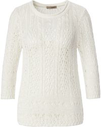 Uta Raasch Le pull manches 3/4 taille 48 - Blanc