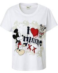 Disney Rundhals-shirt 1/2-arm - Weiß