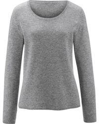 Peter Hahn Cashmere Rundhals-pullover aus 100% premium-kaschmir - Grau