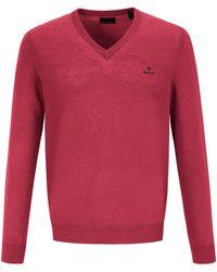 GANT V-pullover - Rot