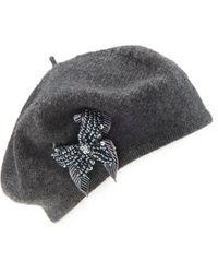 Peter Hahn Cashmere Baskenmütze aus 100% kaschmir - Grau