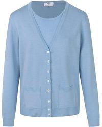 Peter Hahn Twinset aus 100% schurwolle-merino fein - Blau