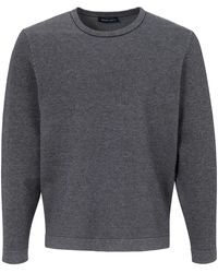 Louis Sayn Rundhals-Pullover blau