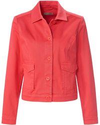 Uta Raasch La veste jean avec manches longues taille 48 - Rouge