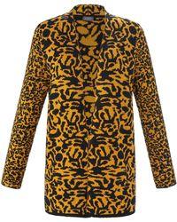 Samoon Le gilet jacquard léopard taille 50 - Jaune