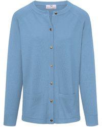Peter Hahn Strickjacke aus 100%schurwolle pure tasmanian wool - Blau