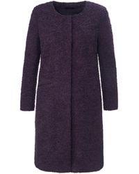Emilia Lay Le manteau court à boutons-pression taille 42 - Violet