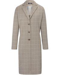 Fadenmeister Berlin Le manteau jersey à carreaux taille 40 - Gris