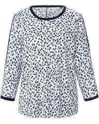 Gerry Weber La blouse à enfiler, manches 3/4 taille 38 - Multicolore