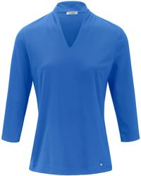 efixelle Le t-shirt manches 3/4 100% coton taille 54 - Bleu