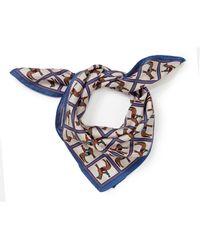 Peter Hahn Nicki-tuch aus 100% seide - Blau