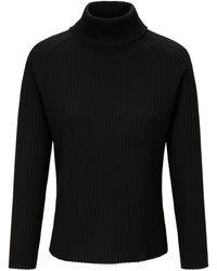 Peter Hahn Rollkragen-pullover aus 100% schurwolle-merino - Schwarz