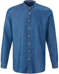 Pure La chemise jean avec col montant taille 39/40 - Bleu