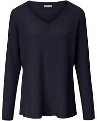 include V-pullover aus 100% premium-kaschmir - Blau