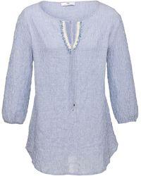 Peter Hahn Blusen-shirt 3/4-arm - Blau